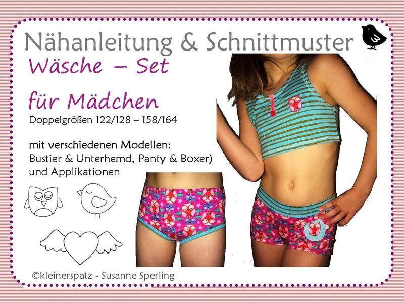 Nahanleitung Ebook Boxer Und Panty Fur Madchen High Neck Bikinis Swimwear Bikinis