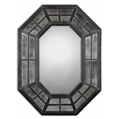 Uttermost Sumner Mirror in Rustic Charcoal Gray