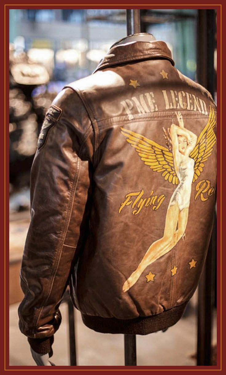 The History Of Nose Arts Did You Know Nose Arts Were Created By Pilots To Personalize Their Planes Leather Flight Jacket Leather Bomber Jacket Flying Jacket [ 1220 x 735 Pixel ]
