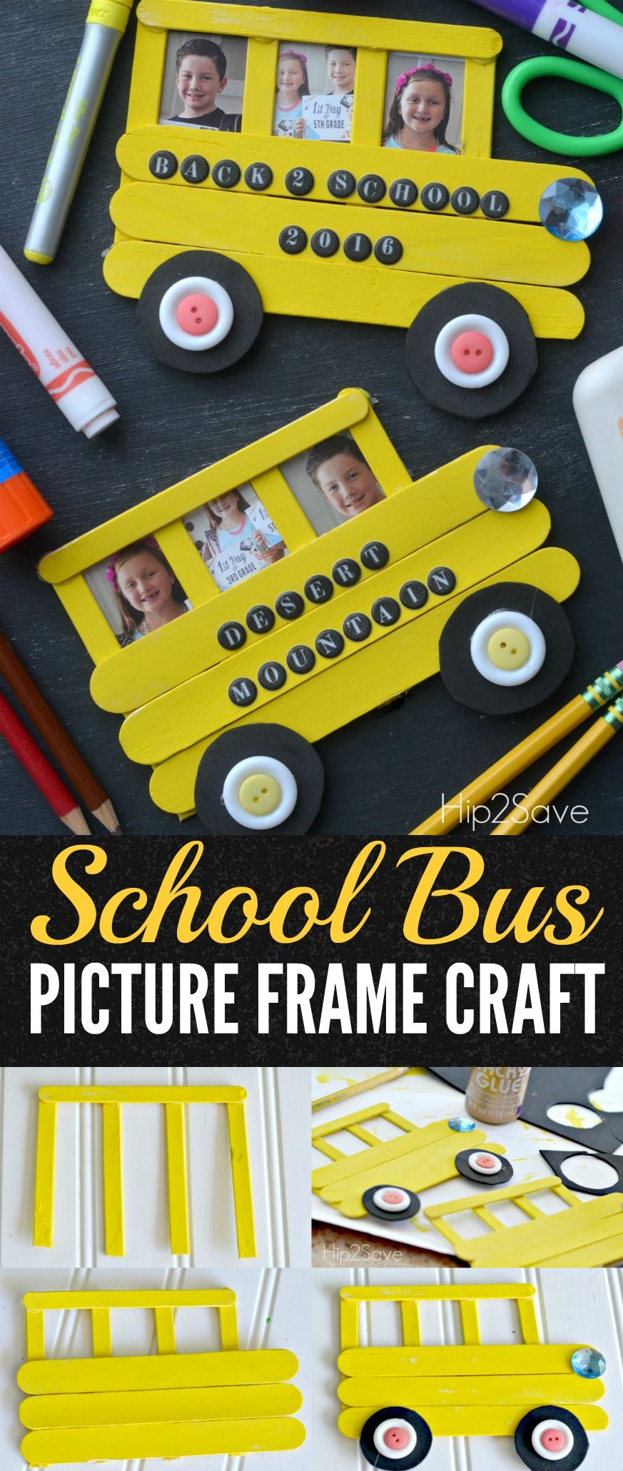 Craft Stick School Bus Back To School Idea Hip2save With