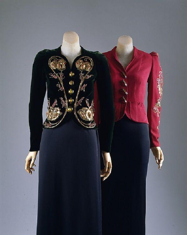 Deep Emerald Evening Jacket| ca.1937| House of Schiaparelli ...