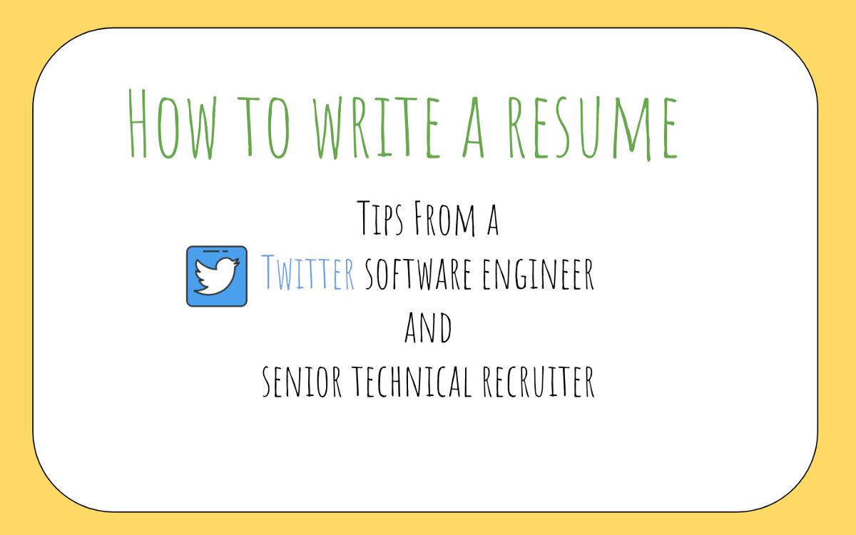 How To Write A Tech Resume How To Write A Great Resume For Software Engineers.zhia Hwa .