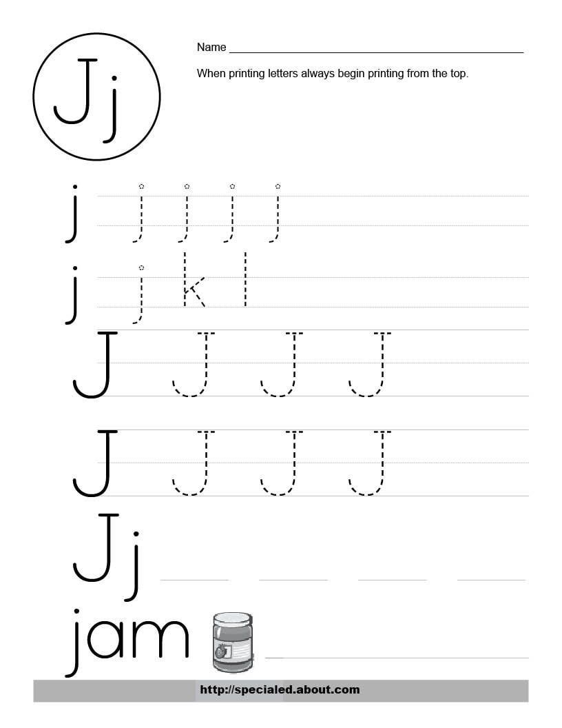 worksheet The Letter J Worksheets this is one foundational skill special education students need alphabet worksheets for preschoolers free worksheet activities the letter j
