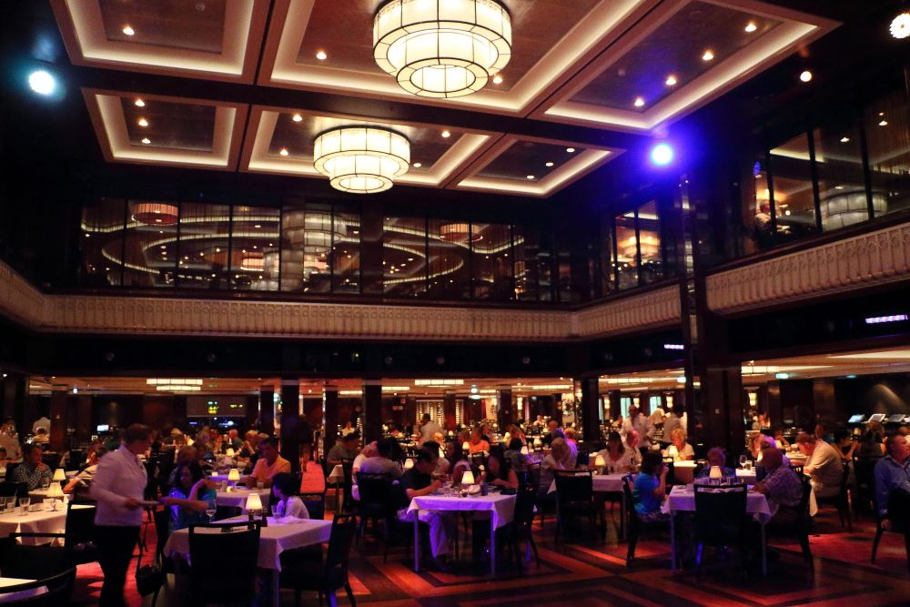 The Tropicana Main Dining Room (Deck 7) Cuisine