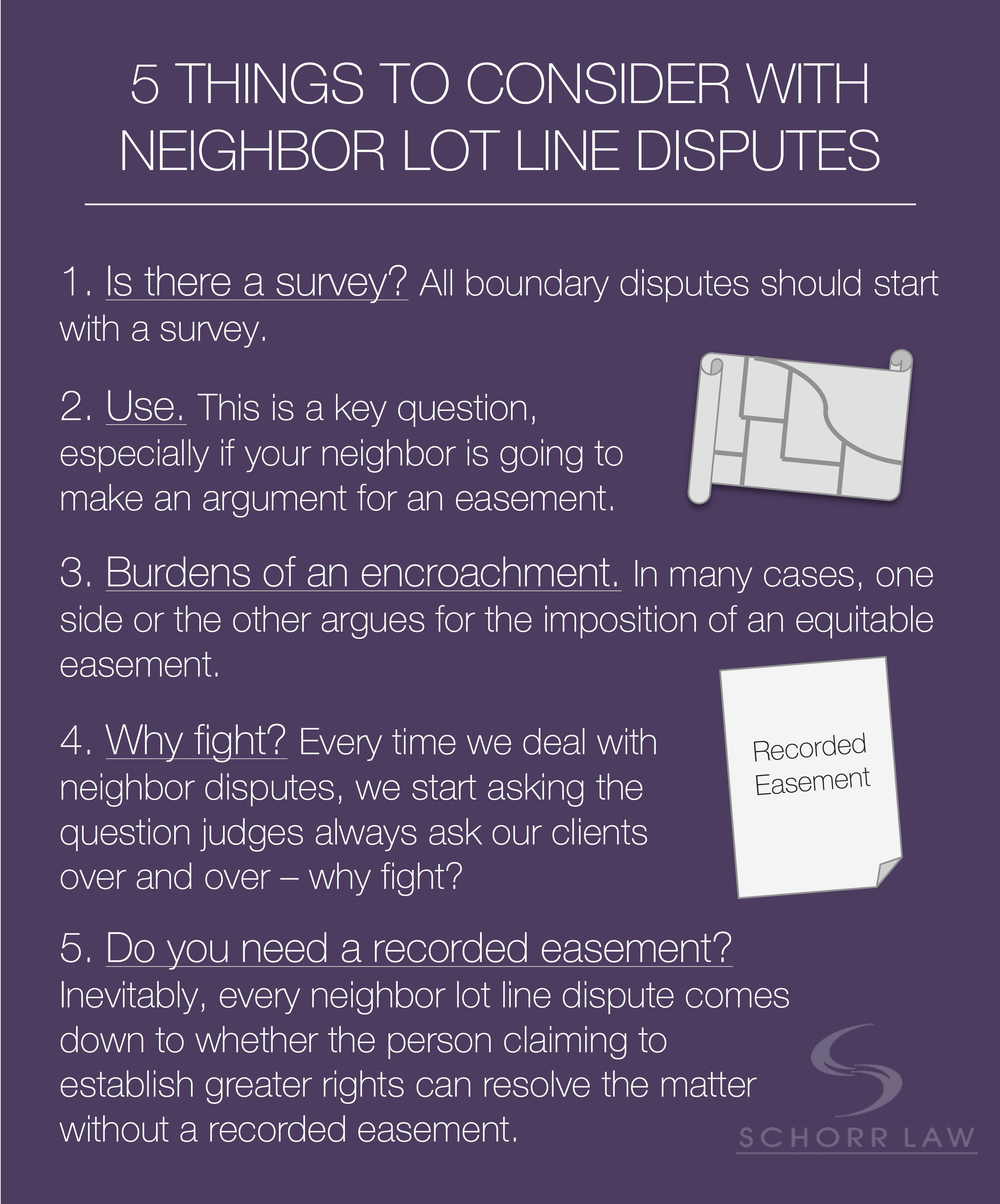 Having A Lot Line Dispute With Your Neighbor Here Are 5 Things To Consider Law Blog This Or That Questions Blog Posts