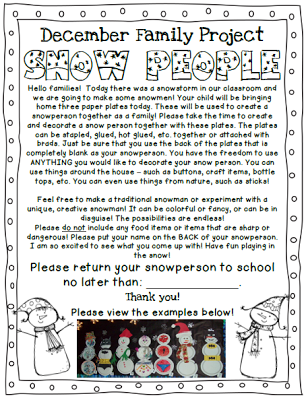 FREEBIE Snow People family project
