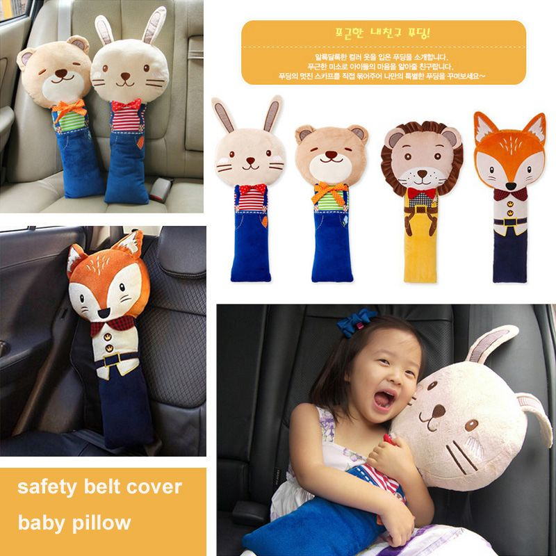 Chick Cute Plush Animals Car Seat Belt Cover Pillow Shoulder Pad Seat Toys for Kids and Adults