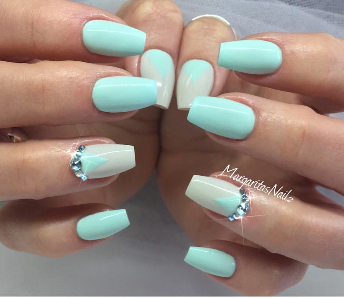 Quinceanera .... Mint Green NailsGreen Nail ArtMint ... - Pin By ♡ ƤнιℓℓʏƉιιиα ♡ On ✬ ℕᎯℐℒℰⅅ ℐᏆ ✬ Pinterest