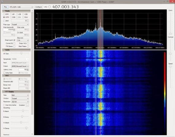2 4GHz NRF24 packet received on the RTL-SDR from a Logitech