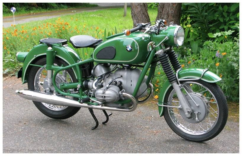 1968 Bmw R69us Painted Green Gorgeous Motor Bikes All