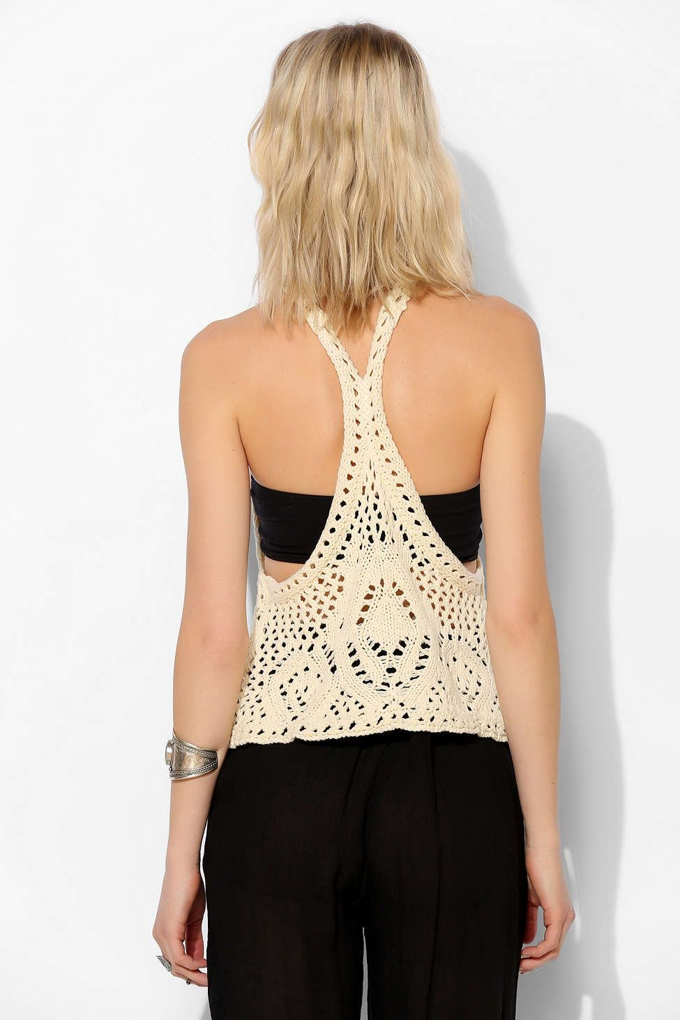 Staring At Stars Open-Crochet Tank Top