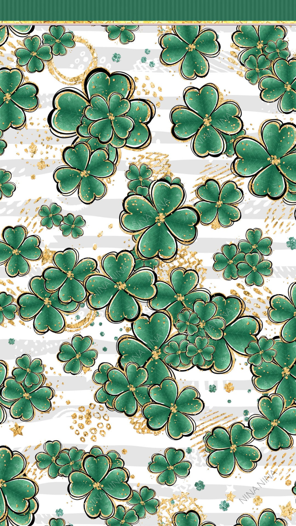 Saint Patrick's Day Clipart, Digital Papers, Pot of Gold Clip Art, Planner Stickers, Cute Glitter Bundle, Seamless Patterns, Beer, Shamrock
