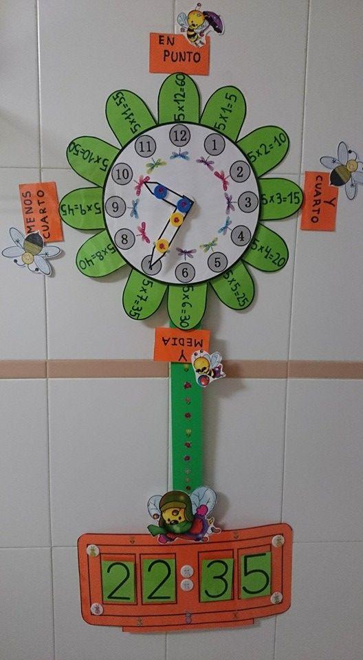 Reloj De Flor Analógico Y Digital Actiludis Educacion Infantil Actividades Escolares Material Didactico Primaria