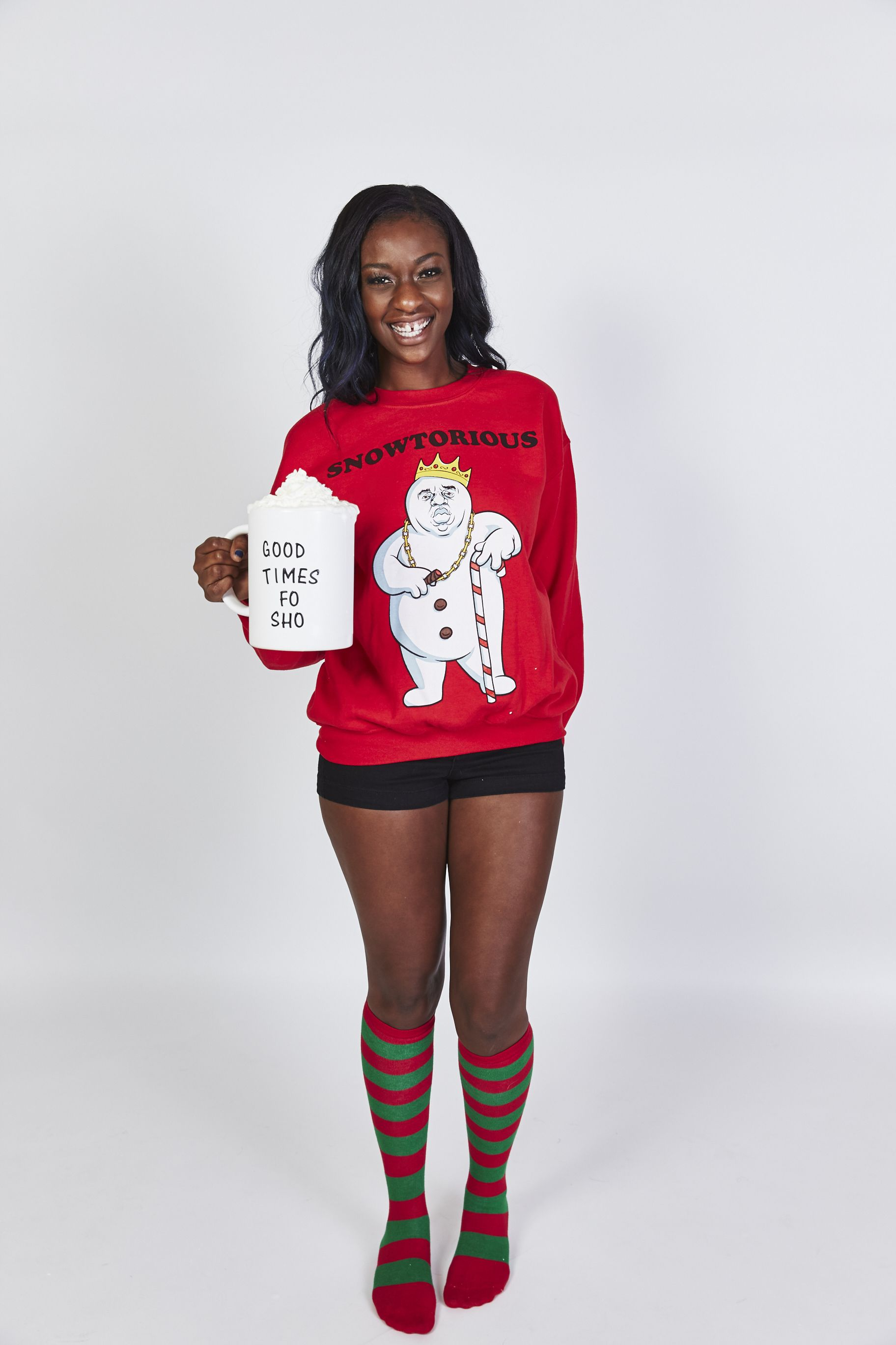 notorious biggie smalls lives on fun ugly christmas sweater for men or women
