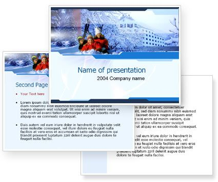 Free Winter Powerpoint Template With Free Winter Powerpoint