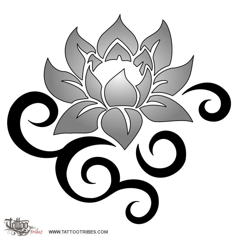 Tribal Lotus Depicts Beauty And Strength Flower Tattoo Meanings