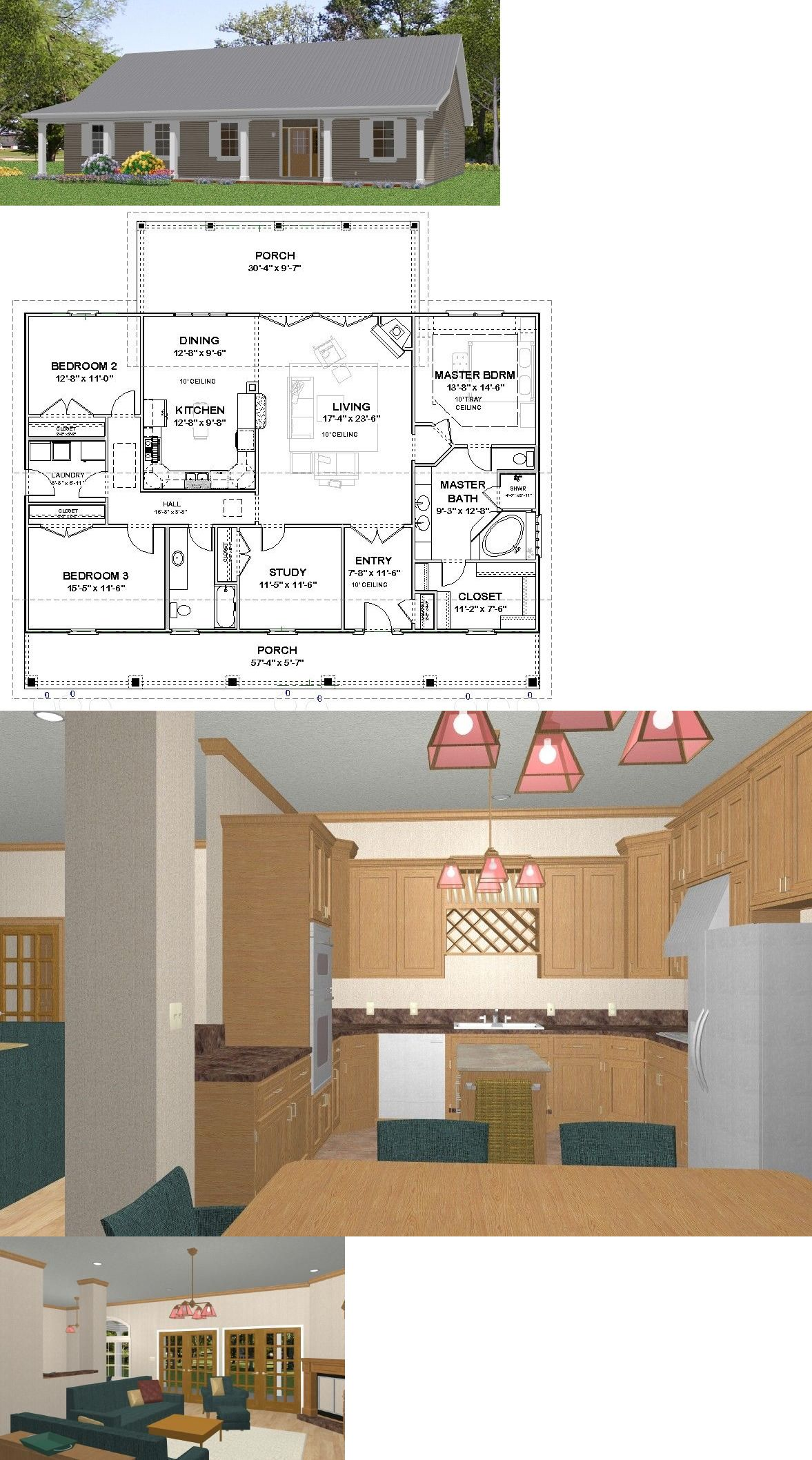 Building plans and blueprints affordable house home bedroom sf pdf   buy it now only on ebay also rh pinterest