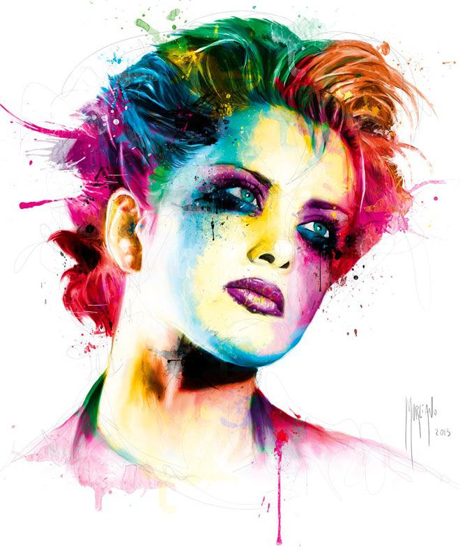 Brody Dalle Colorful Paintings by Patrice Murciano