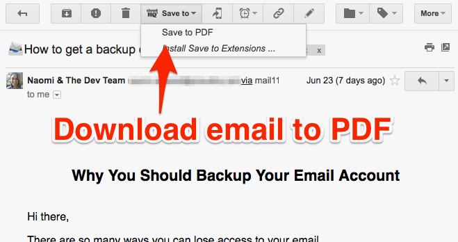 Save your emails as PDF using this free Chrome Extension
