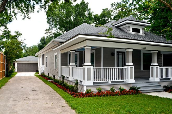 Black window trim exterior craftsman exterior by creative architects exterior paint for Exterior window trim craftsman style