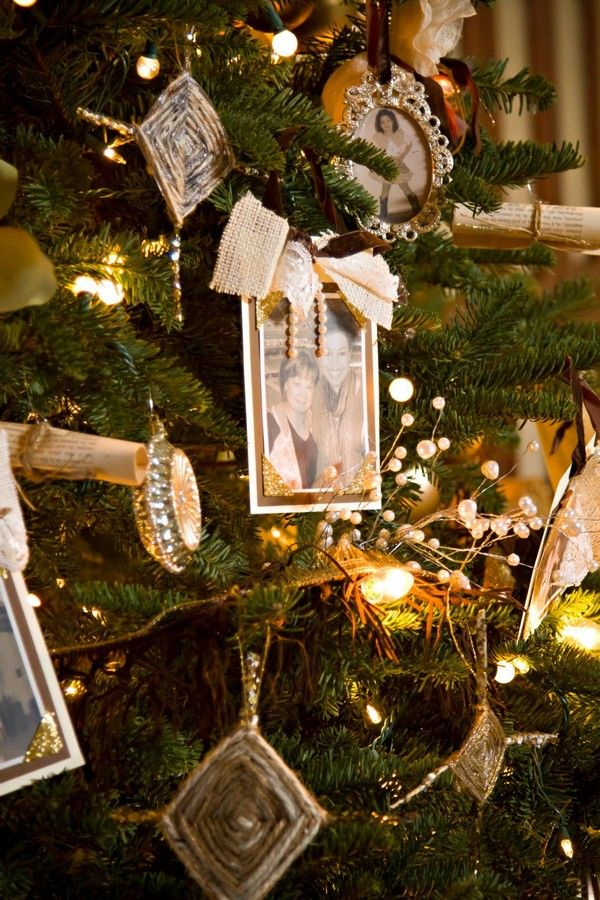Picture Frame Ornaments Christmas Tree Decor | Christmas | Pinterest ...