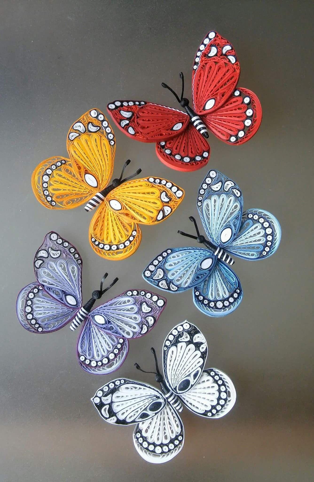 Autor Maria Cvetanova Quillingbutterfly Quillinginsects