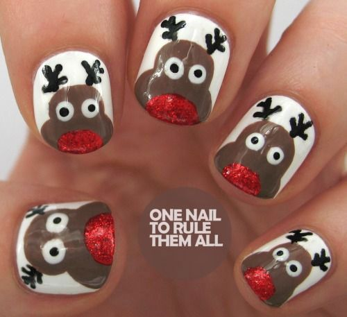 20 cool reindeer nail art designs ideas trends stickers 2014 xmas 20 cool reindeer nail art designs ideas trends prinsesfo Choice Image