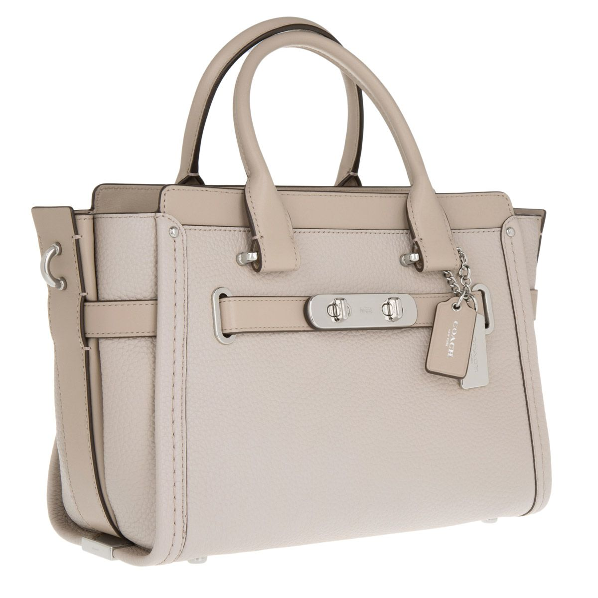 Coach Swagger 27 Carryall Bag in Heather Grey Calfskin Coach