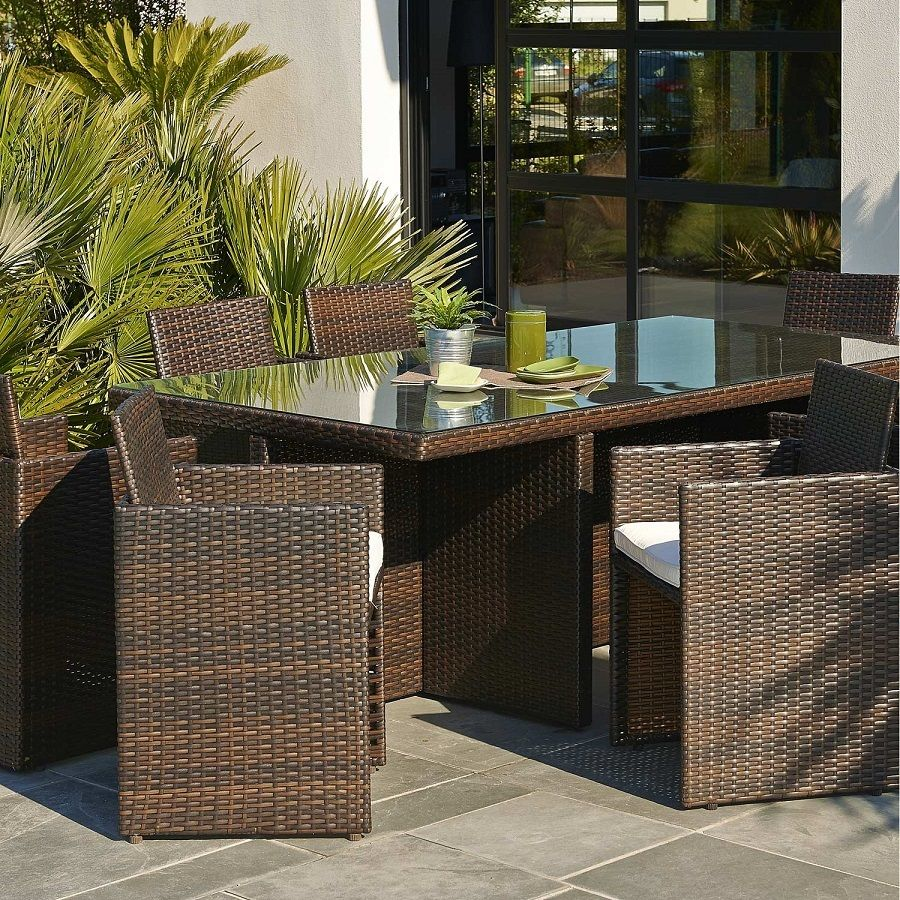 Salon De Jardin Encastrable Resine Tressee Marron 8 Personnes Salon De Jardin Leroy Merlin Salon De Jardin Encastrable Salon De Jardin Table De Balcon
