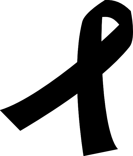 black cancer ribbon clip art cricut and other diecutter projects rh pinterest com cancer ribbon clip art black cancer ribbon png clipart