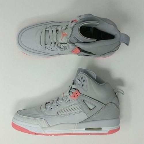 competitive price 03b39 bd776 Air Jordan Spizike GS Wolf Grey Sunblush Pure Platinum Youth Sz 6.5Y 535712- 026