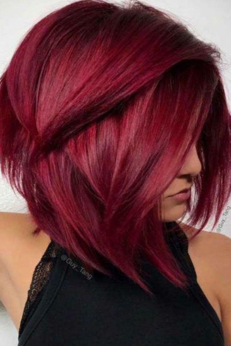 Meilleur Pour Coupe Cheveux Mi Long Couleur Rouge - Muchasilachas
