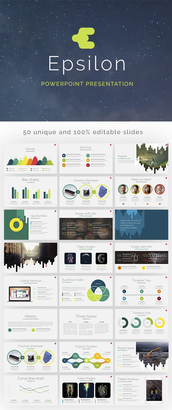 Features Epsilon Free Powerpoint Presentation Template Ppt