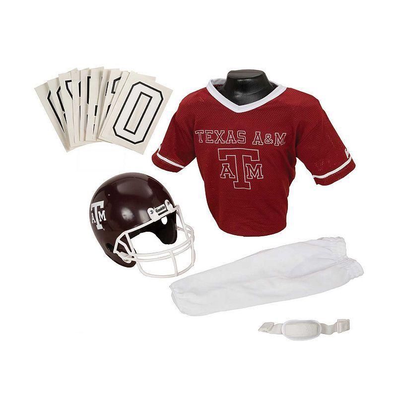 Franklin Ncaa Texas AandM Aggies Deluxe Football Uniform Set, Boy's, Size: Small, Multicolor