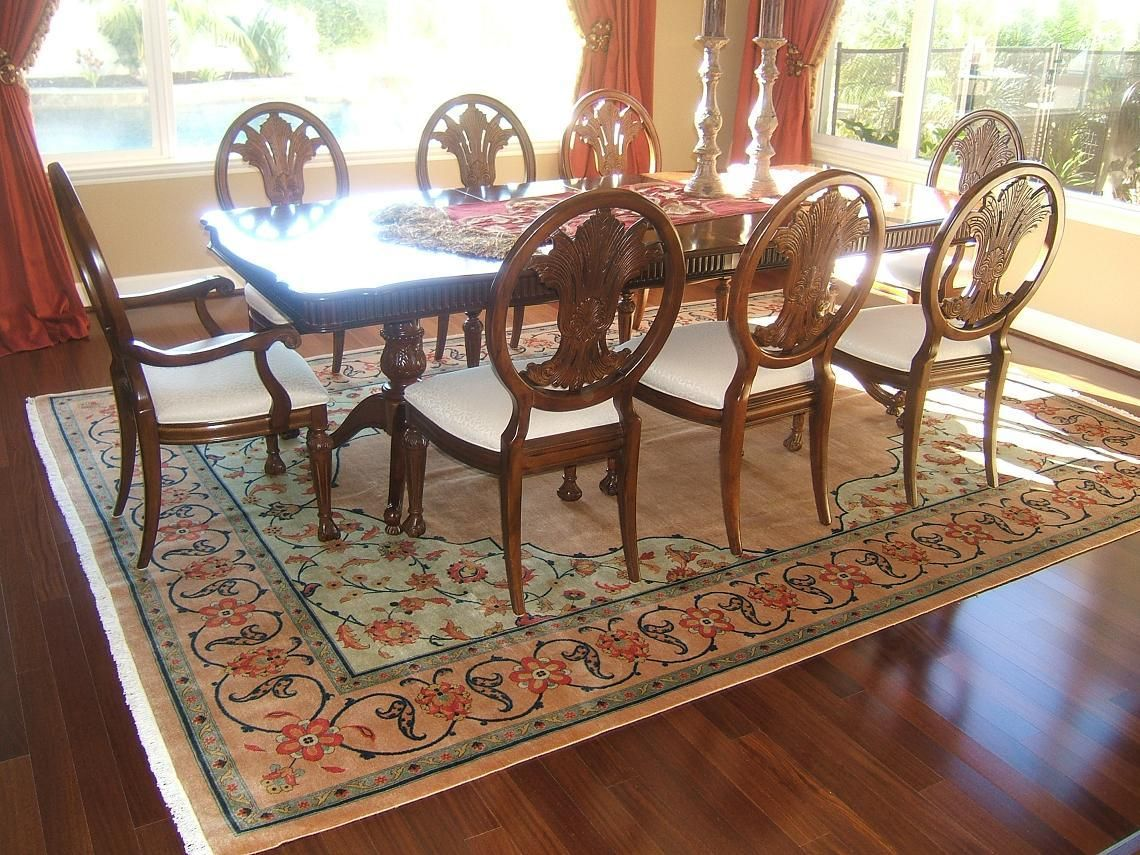 Persian Carpet Is Indispensable Part Of A Traditional Dinning Room