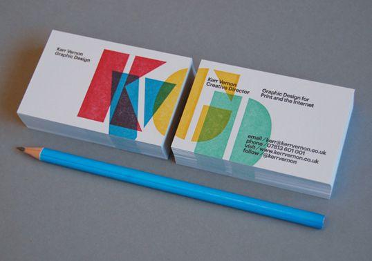 Overprinted Letterpress Business Cards