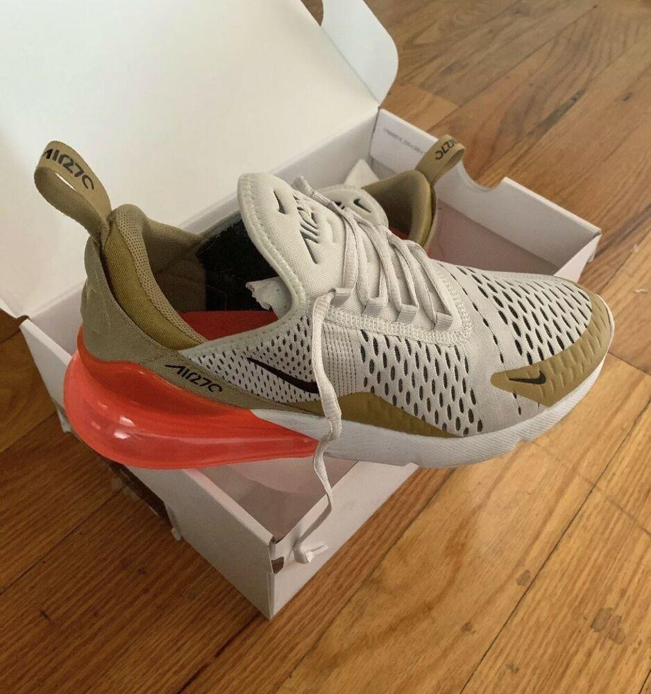 Nike Air Max 270 Elemental Gold Color Cream Shoe [AH8050 700
