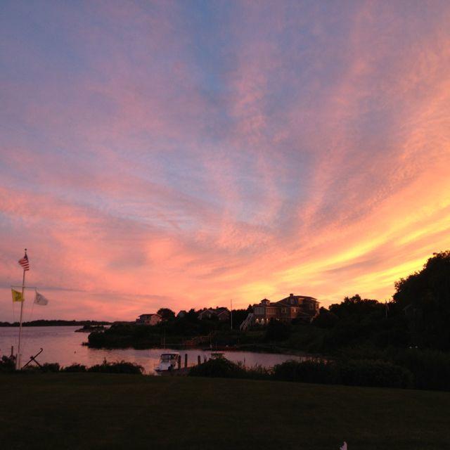 Love RI summer sunsets... Home