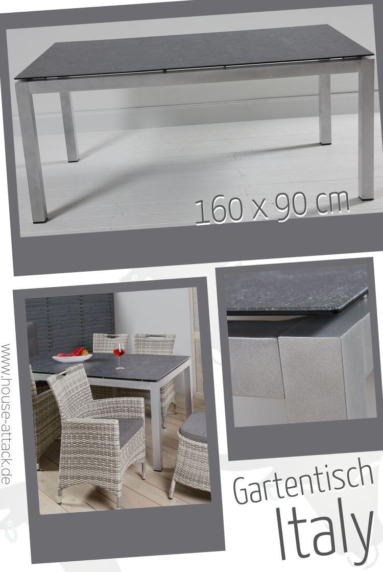 Lc Garden Gartentisch Sweden 140 X 70 Cm Edelstahl Keramik Glas