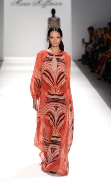 mara hoffman. fall 2013.  great color, excellent drape, gorgeous key hole