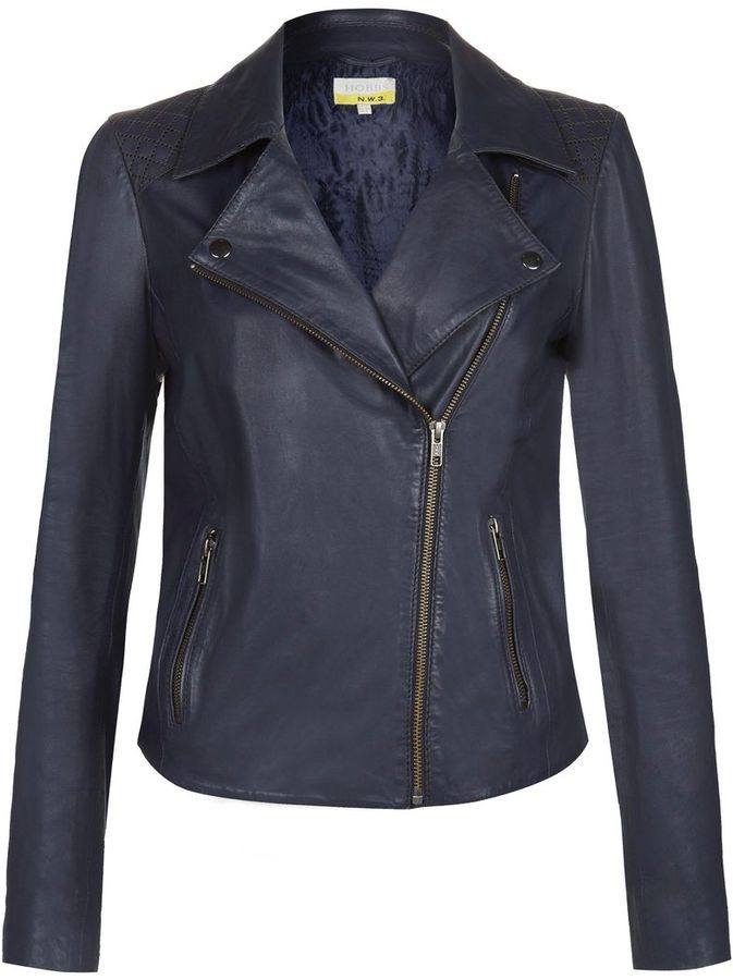 6cbbe24d5 NW3 by Hobbs Hobbs Maritime Leather Jacket on shopstyle.co.uk ...