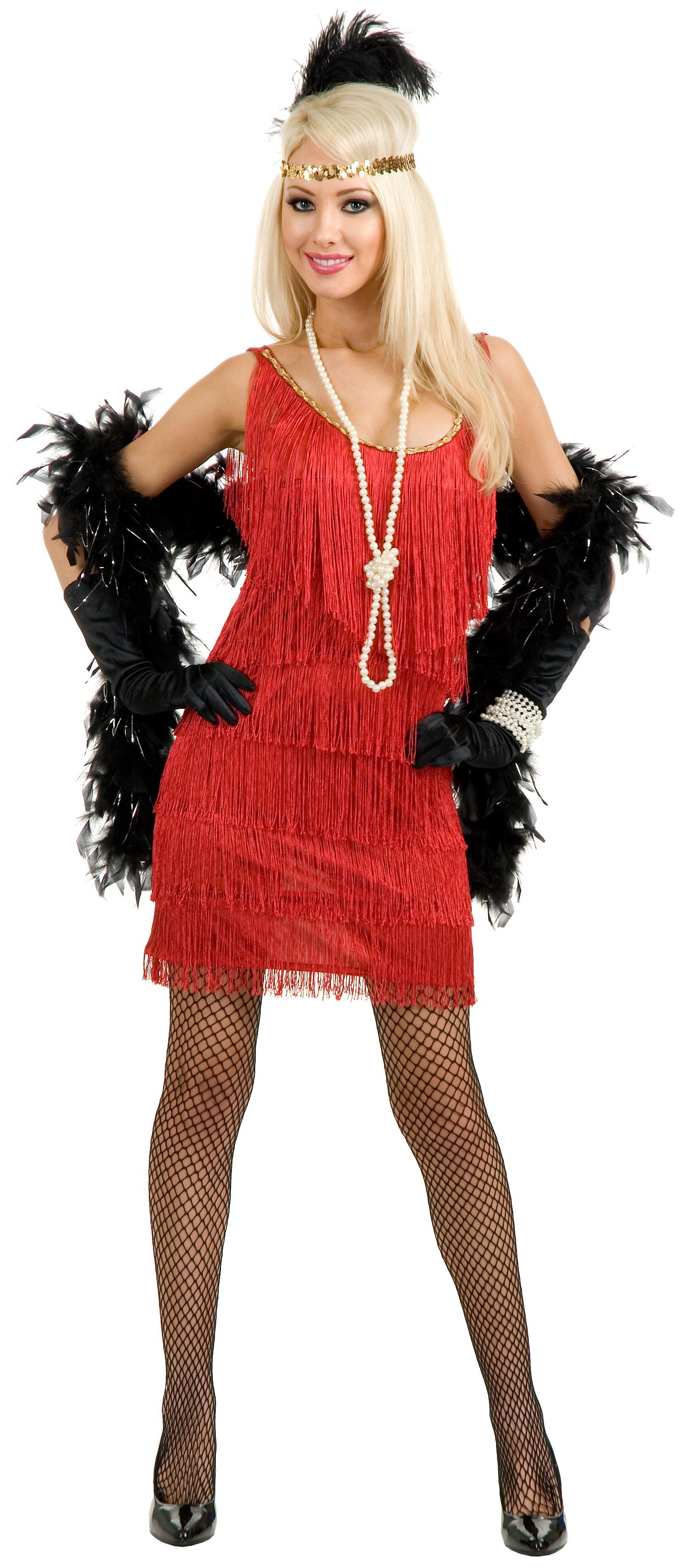 Womens 1920s flapper dress fancy dress costume adult flapper dress - Fashion Flapper Red Adult Plus Costume Flapper Girl Costumesflapper