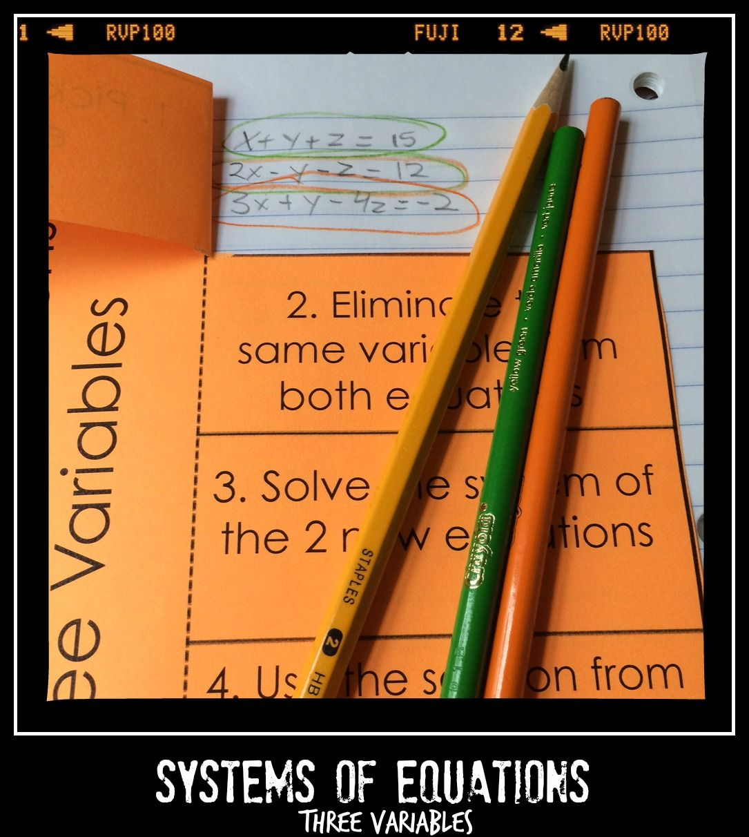 Systems of Equations activities and notes Algebra 1