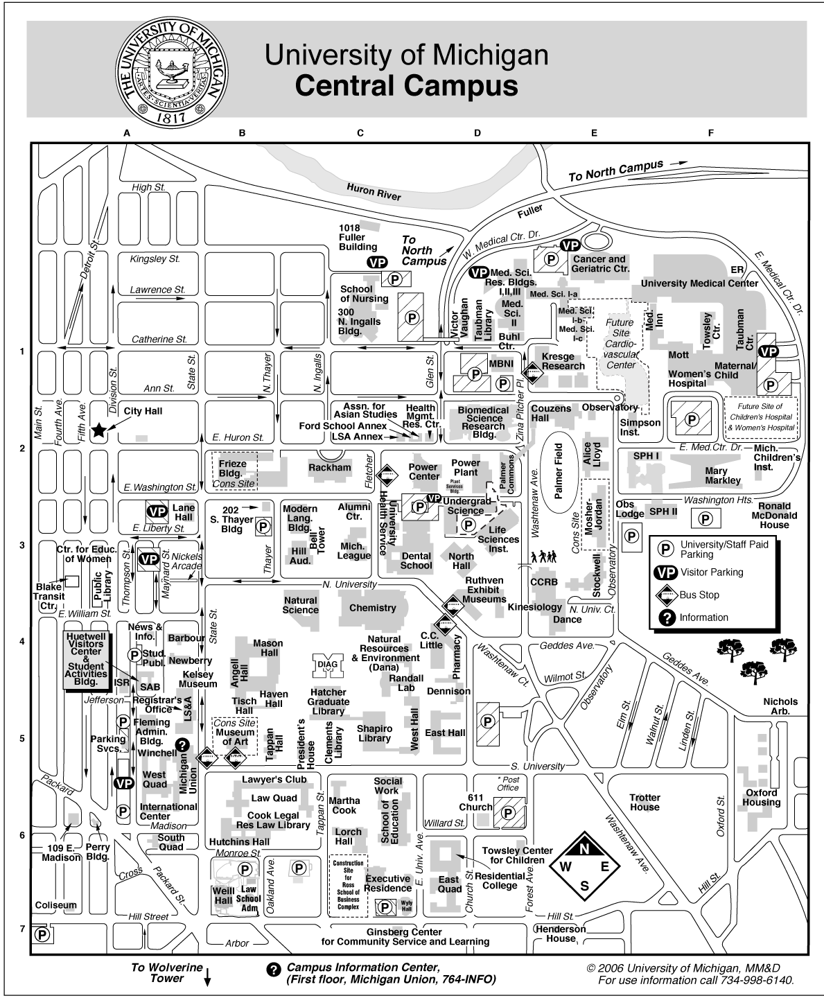 palm beach state college campus map University Of Michigan Ann Arbor Map Ann Arbor Mi Mappery palm beach state college campus map