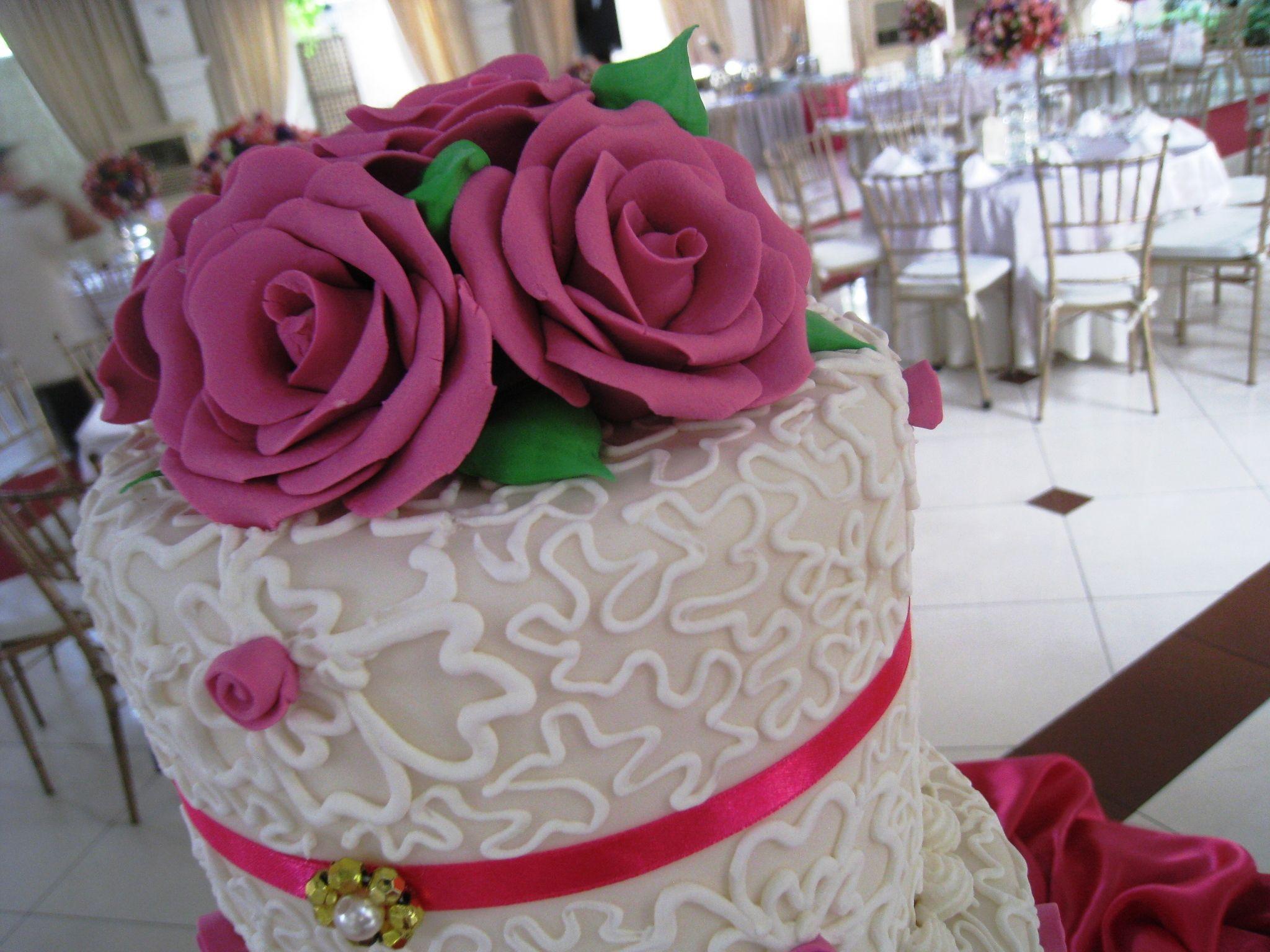 Farver til roserne på kagen
