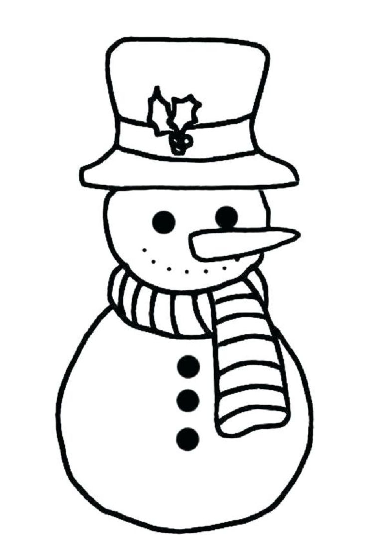 simple snowman coloring pages coloring pages for kids pinterest