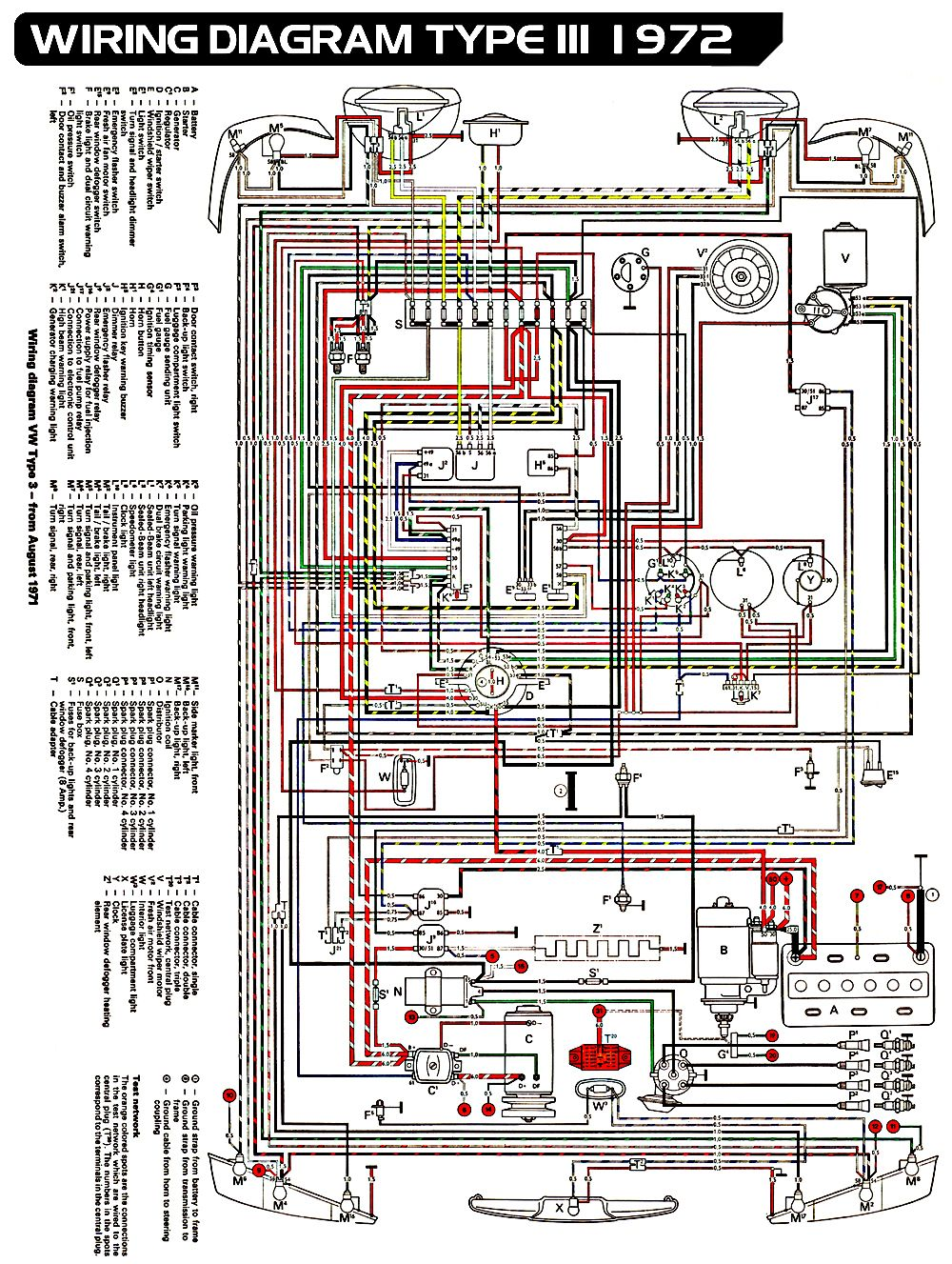 Vw Type 3 Wiring Diagram Vw Beetles Vw Bug Volkswagen Beetle