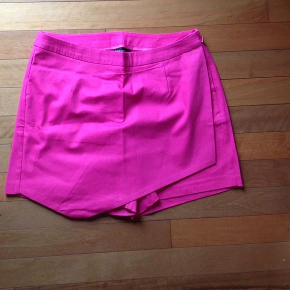 Pink Bloom Asymmetrical Skort Awesome skort that's a necessary addition to any fabulous closet. Lane Bryant Shorts Skorts
