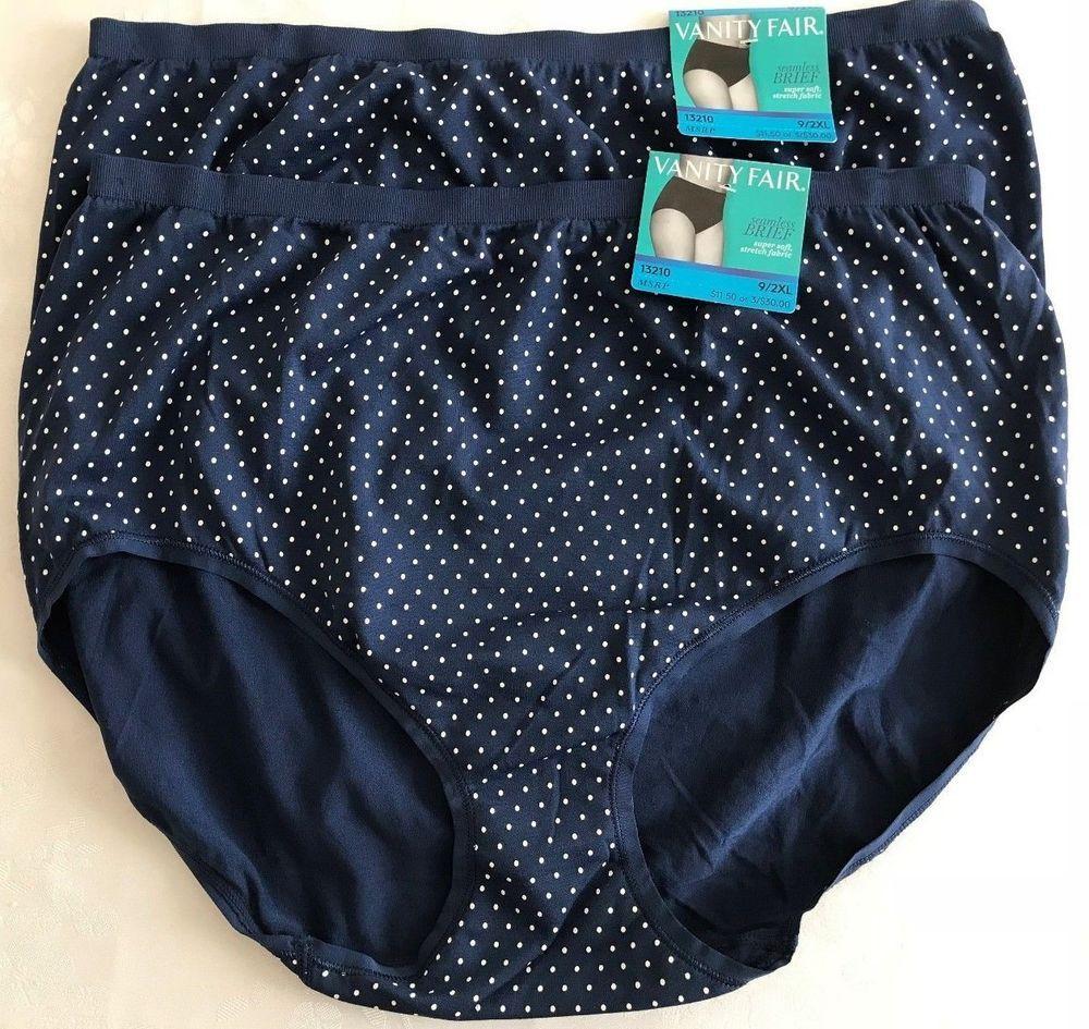 6b3c4ecb9f04 VANITY FAIR WOMENS Seamless Brief Panties Size 9 /2XL 2 PAIRS 13210 # VanityFair #Briefs #Everyday
