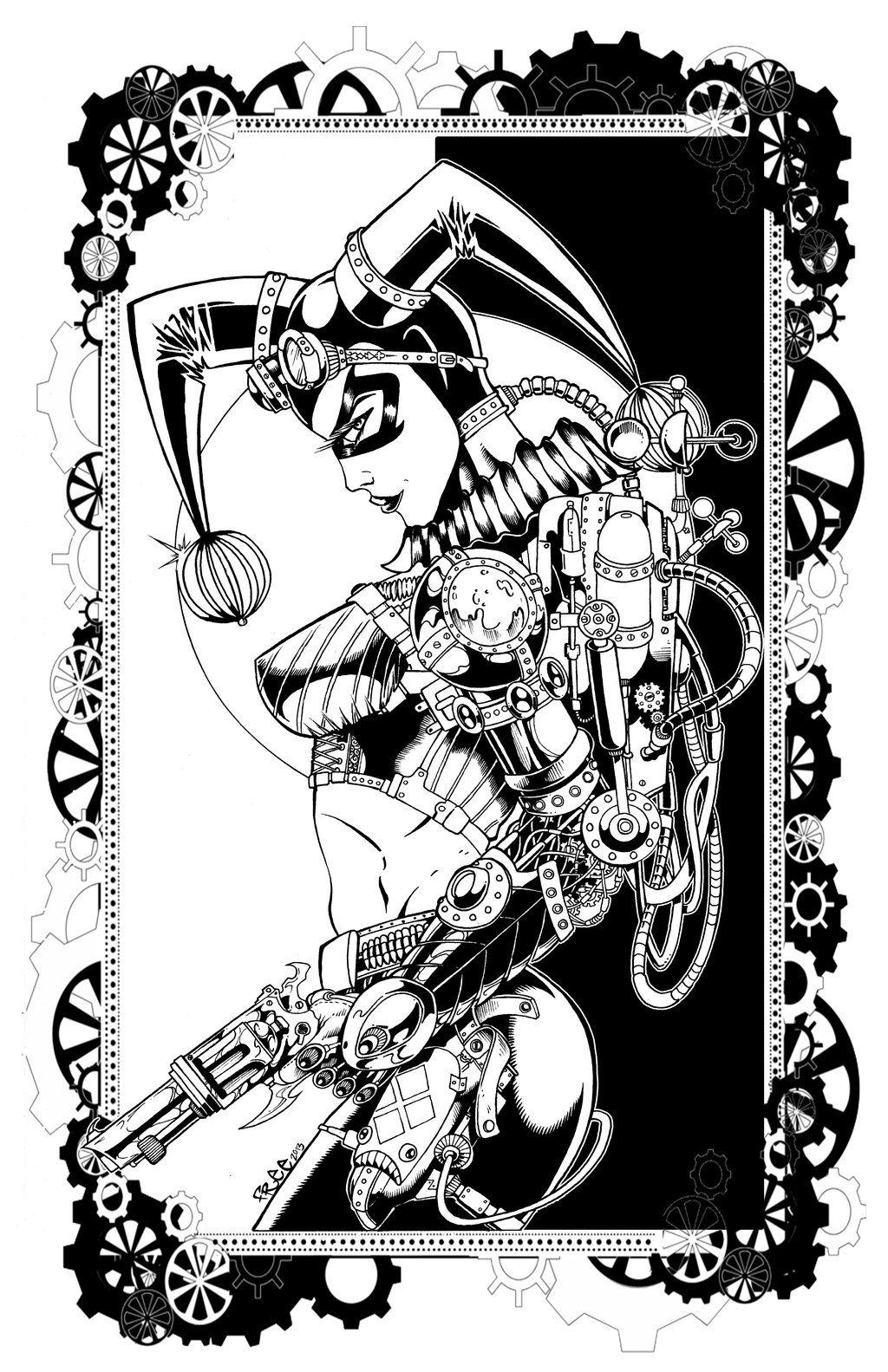 Pin On Harley Quinn Drawing